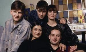 Jason Hughes, Amita Dhiri, Jack Davenport, Daniela Nardini and Andrew Lincoln in This Life.
