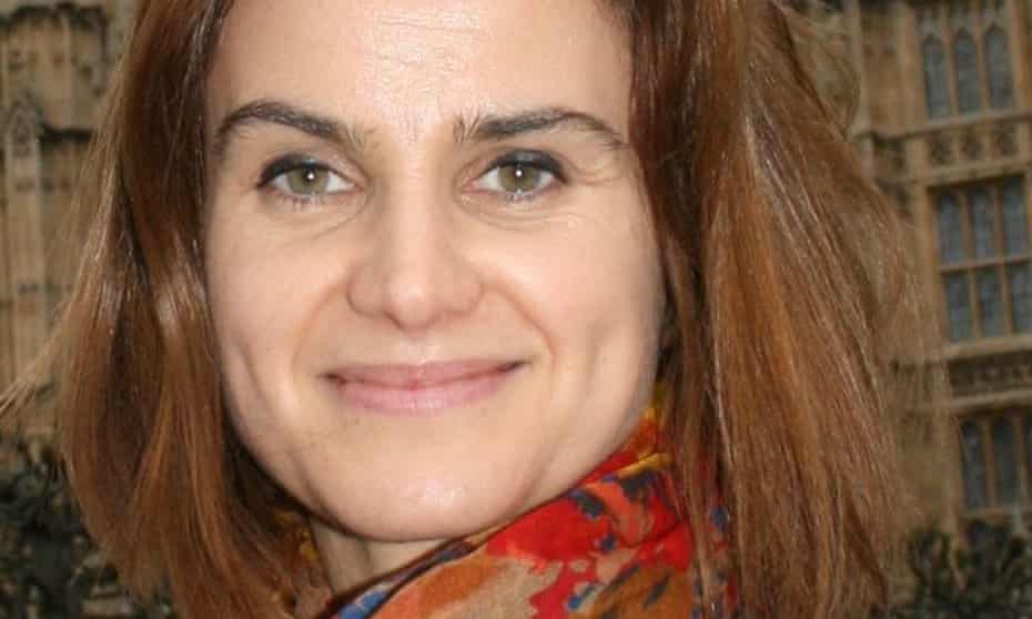 The late Jo Cox MP at Westminster