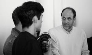Guadagnino mentoring students at the Armani/ Laboratorio project.
