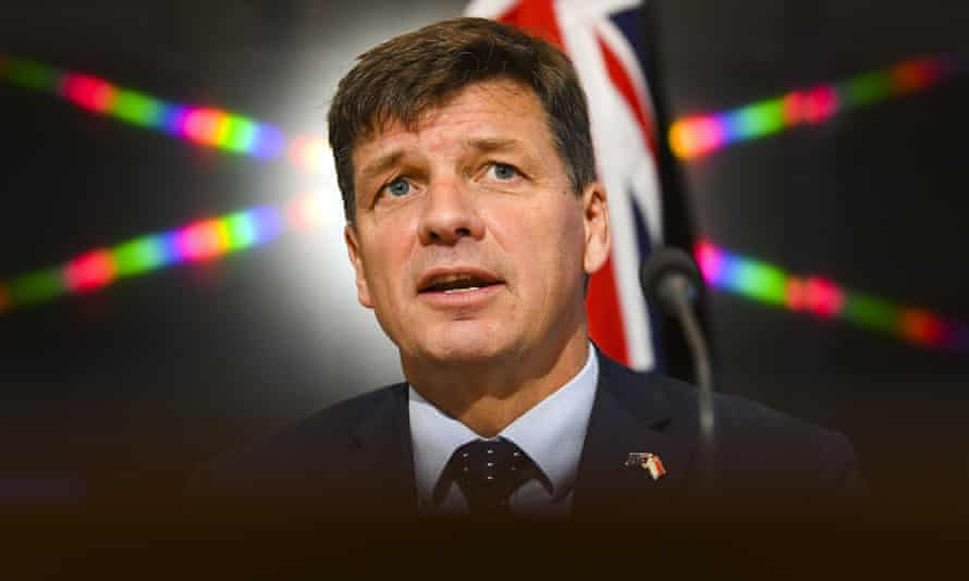 Hume MP and energy minister Angus Taylor. Voices for Hume say they gained 100 new members within a week of launch.
