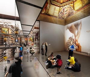 Internal render view of the new V&A collection and research centre at Here East