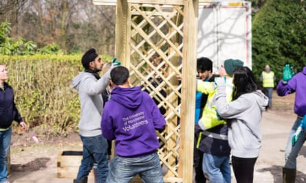 Student volunteers at University of Manchester.