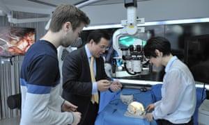 Prof Yang demonstrates nanotechnology