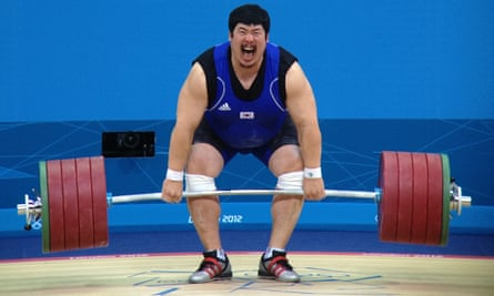 It won't turn you into an Olympian like Jeon Sang-Guen, pictured, but in a grip test swearers boosted their strength by the equivalent of 2.1kg, the study showed.