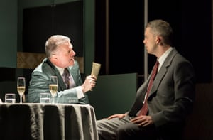 Nathan Lane (Roy M Cohn) and Russell Tovey (Joseph Pitt) in Angels in America - Millennium Approaches.