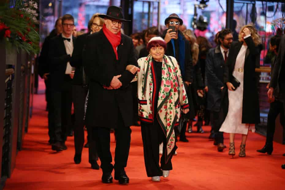 Outgoing festival director Dieter Kosslick and film-maker Agnès Varda at the premiere of her Varda by Agnès.