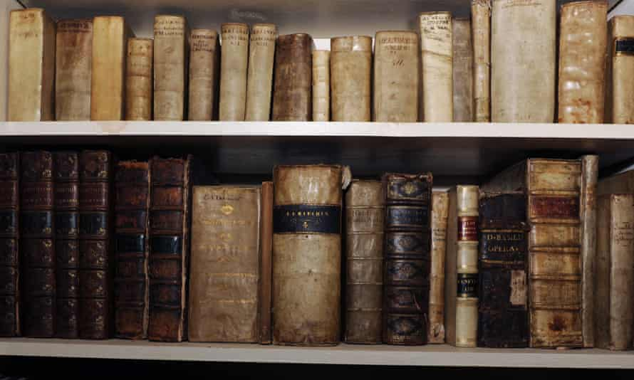 A collection of rare books.