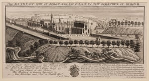 An 18th-century illustration of castle as it would have looked after the Restoration