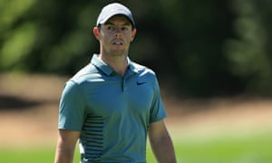 Rory McIlroy was two shots off the lead after Saturday's third round