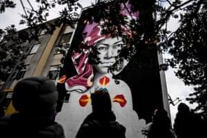 A mural by Salvadorean artist Abraham Osorio