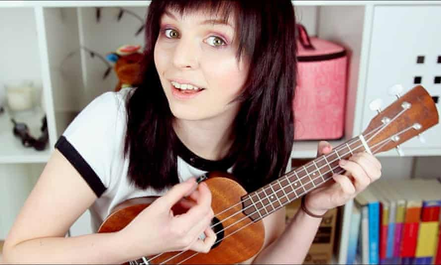 emma blackery playing the ukulele in a still from her youtube channel