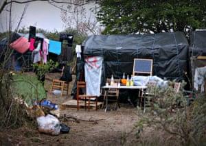 A man in the Calais Jungle