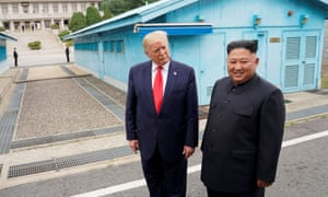 Trump with Kim at the DMZ on the border of North and South Korea in June this year.