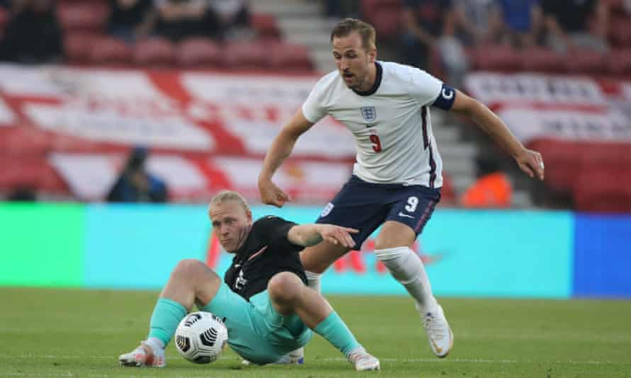 Harry Kane was one of the England players who tried to kill the game against Austria.
