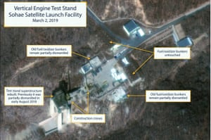 Commercial satellite image shows North Korea's Sohae satellite launching station.