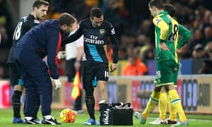 Santi Cazorla will be out for at least three months.