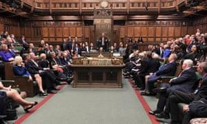 MPs sit in the House of Commons in London, Britain