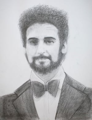 Mo Lea's portrait of Peter Sutcliffe.