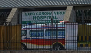 The emergency service in Punjab transport coronavirus patients to a quarantine centre.