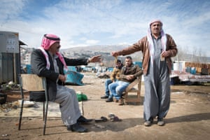 Syrian refugees at the Qab Elias informalsSettlement in the Bekaa Valley, Lebanon.