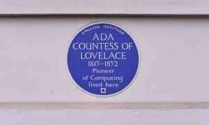 A blue plaque for Ada Lovelacea
