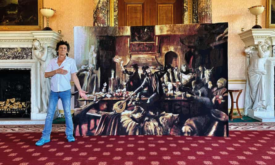 Ronnie Wood's Beggar's Banquet tapestry at Ashridge House