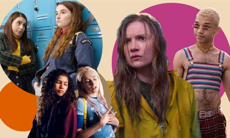 Images from Booksmart, Euphoria, Moxie and Generation.