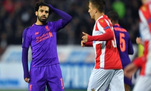 Mohammed Salah was one of several Liverpool players who missed the chance