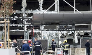 Zaventem airport in Brussels, in March 2016, when suicide attacks on the city's airport and subway killed 32 people and injured hundreds.