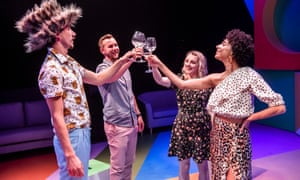 Cutting loose … L to r, Billy Postlethwaite, Calum Callaghan, Evanna Lynch and Tessie Orange-Turner in Games for Lovers.