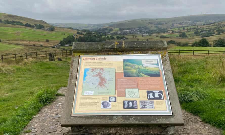 A plaque commemorating Roman ruins at Castleshaw