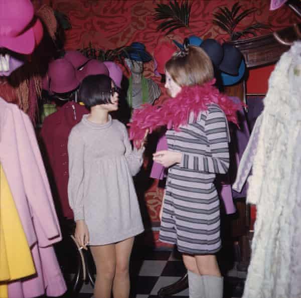 Shoppers in the Biba store on Kensington high street, London,  in 1967