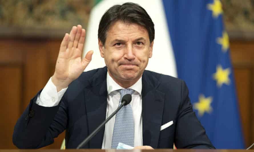 Italy's prime minister Giuseppe Conte