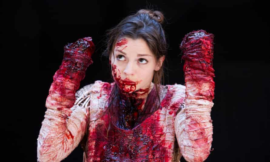 Flora Spencer-Longhurst as Lavinia in Titus Andronicus.
