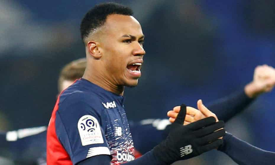 Gabriel Magalhães, pictured after Lille's game against Lyon in December 2019, has signed a five-year contract with Arsenal.