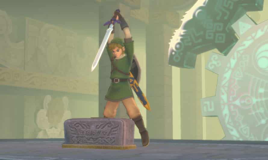 Strong point … The Legend of Zelda: Skyward Sword HD, a remaster for the Nintendo Switch.