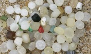 'Nurdles' on a beach.