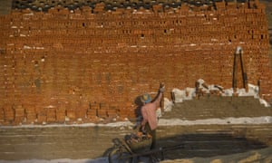 A man working at a brick factory on the outskirts of Naypyidaw in Myanmar.