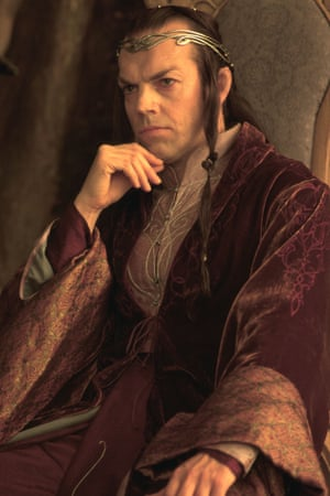 Hugo Weaving plays Elron in The Lord of the Rings and The Hobbit trilogies.