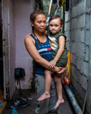 Judith Icaru and her son, Jaden, three.