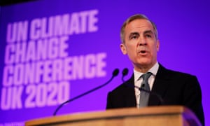 Mark Carney addresses the 2020 United Nations Climate Change Conference (COP26) in February 2020.
