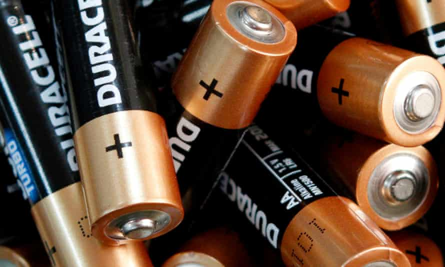 Used Duracell batteries
