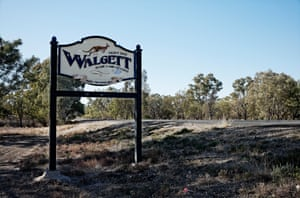 Sign welcoming visitors to Walgett Shire in country NSW.