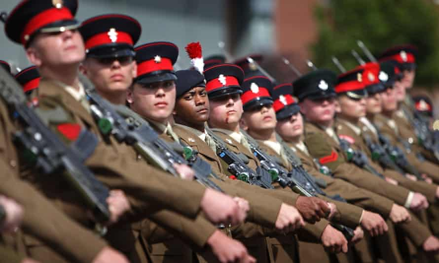 Graduation parade at the Army Foundation College in Harrogate, England