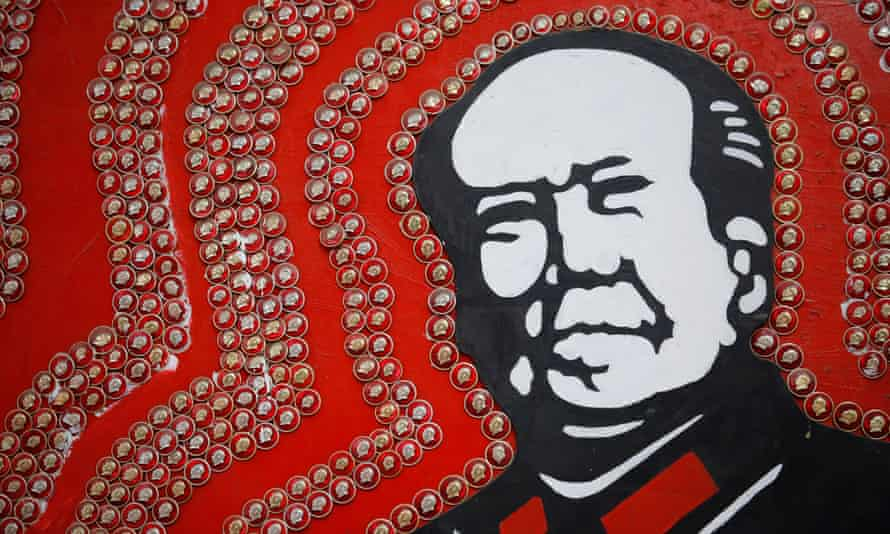 Badges of Mao Zedong on sale in Sichuan. President Xi Jinping has avoided any comment on the Cultural revolution because it will damage Mao's reputation, one expert said.