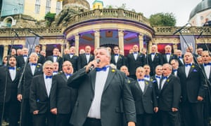 Best dressed... the Brythoniaid male voice choir at Portmeirion.