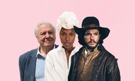 David Attenborough, DeWanda Wise in Spike Lee's She's Gotta Have It and Kit Harington in Gunpowder.