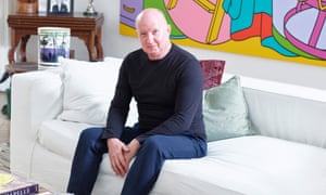 Robert Tibbles (pictured) bought Damien Hirst's early work with his annual bonuses