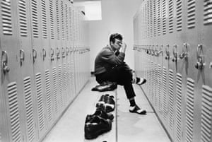 Golfer Tony Jacklin has a quiet moment to himself in the locker room during the Florida Citrus Open Invitational golf tournament at the Rio Pinar Country Club in March 1968