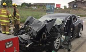 Tesla Model S collision